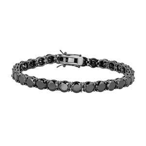 Harlembling Mens Black Diamond Tennis Bracelet